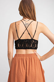 Feeling Free Bralette - Black - Stella Clothing Boutique