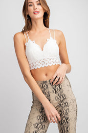 Feeling Free Bralette - White - Stella Clothing Boutique