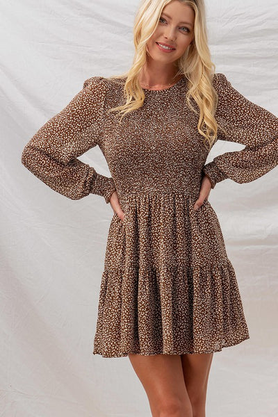 Mocha Distressed Sweater - Stella Clothing Boutique
