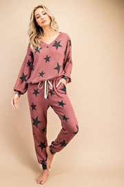 Searching For Stars Lounge Set - Red Bean