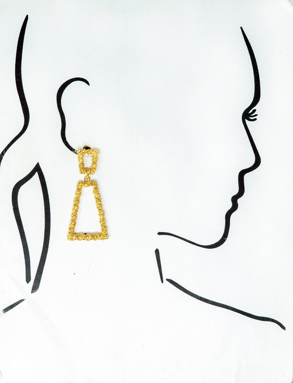 True To My Heart Earrings - Gold