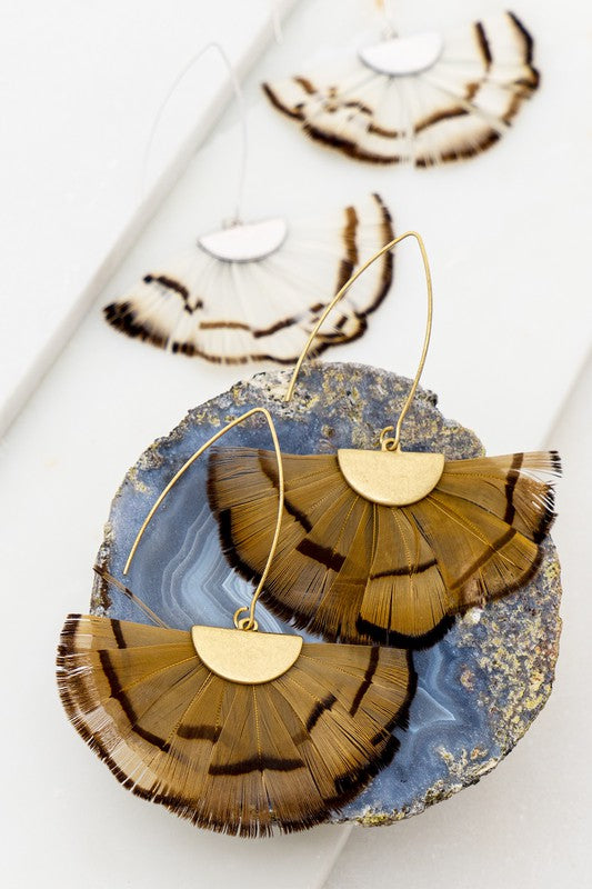 Feathers Of The Flock Earrings