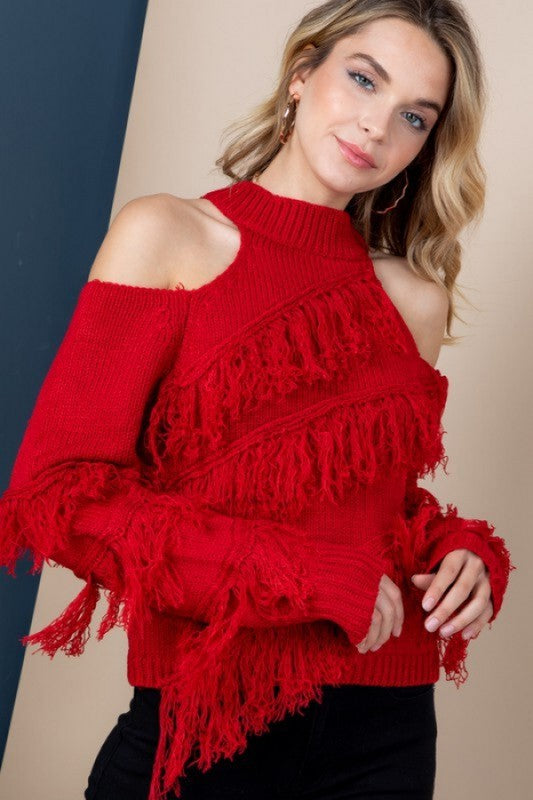 Feeling Super Cute Sweater - Red
