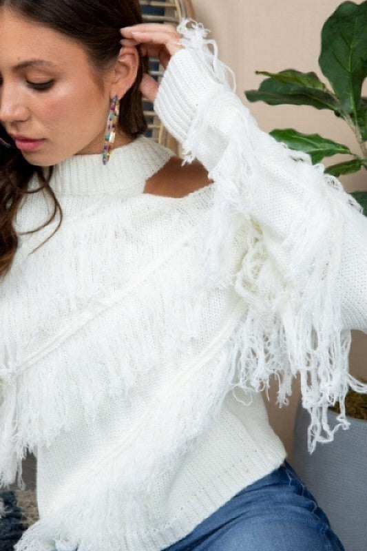 Feeling Super Cute Sweater - White