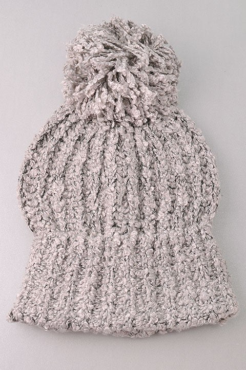 Cuddle Me Up Hat - Gray - Stella Clothing Boutique