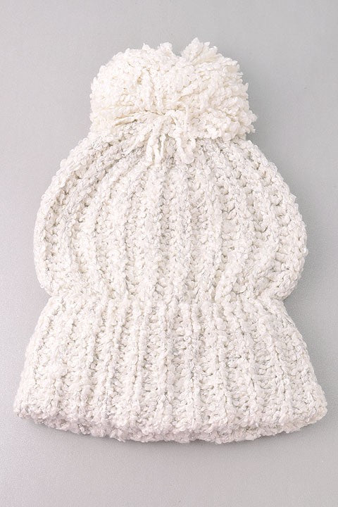Copy of Cuddle Me Up Hat - White - Stella Clothing Boutique