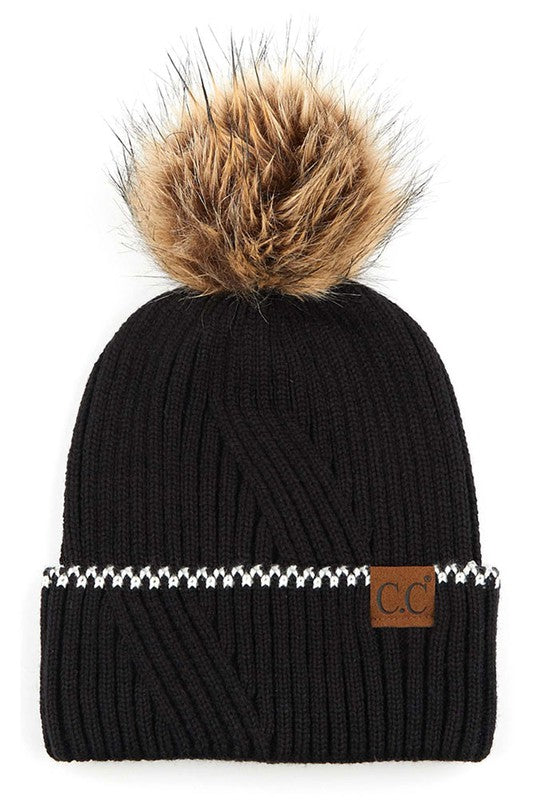 Tonight's The Night Black Beanie - Stella Clothing Boutique
