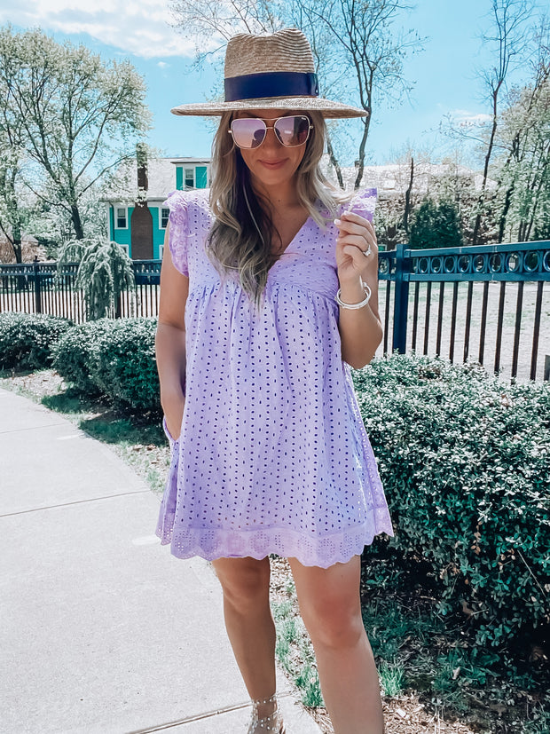 It's That Time Romper Dress- Periwinkle