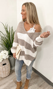 Feeling Pretty Taupe Sweater