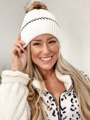 Tonight's The Night White Beanie - Stella Clothing Boutique