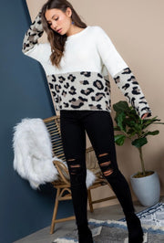 Winter Cheetah Sweater
