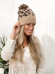 Cheetah Print Hat Brown - Stella Clothing Boutique
