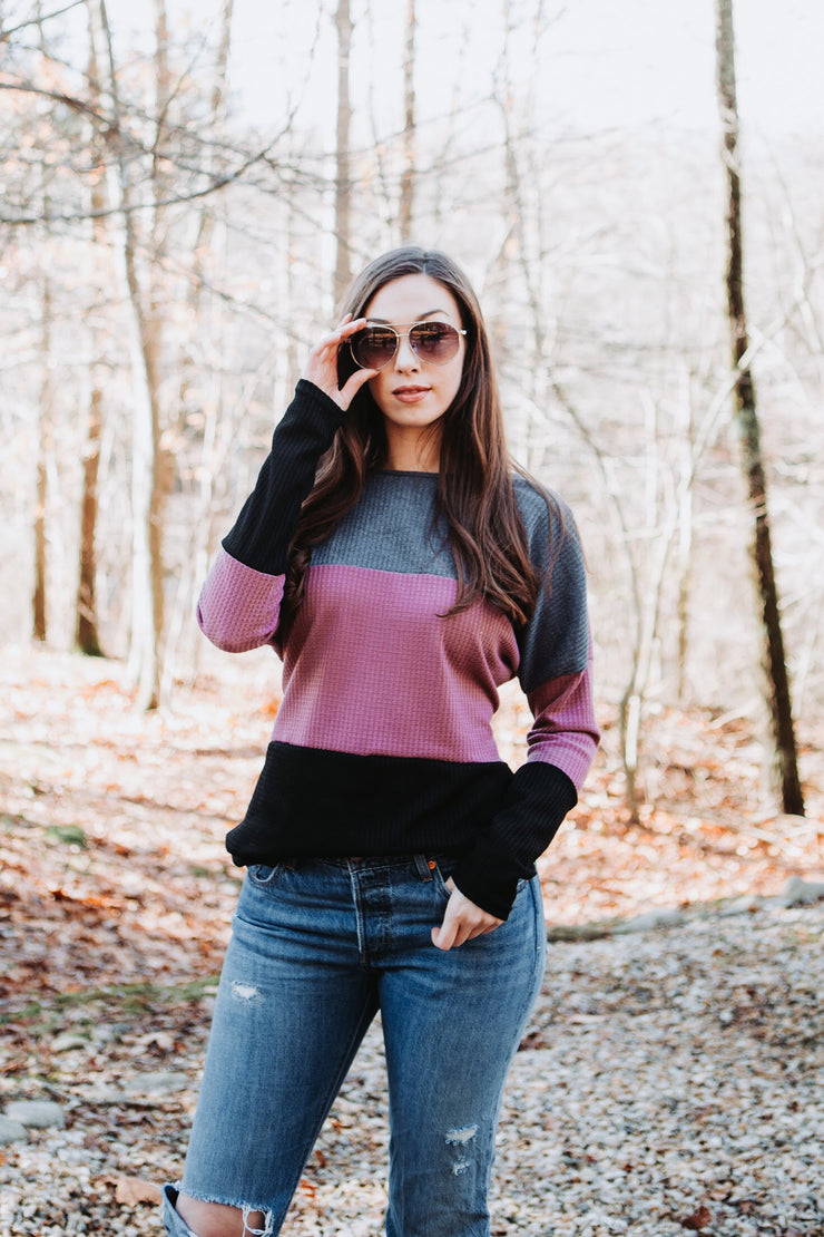 Twist Around Colorblock Sweater - Stella Clothing Boutique