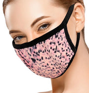Peach/Coral Animal Print Face Mask