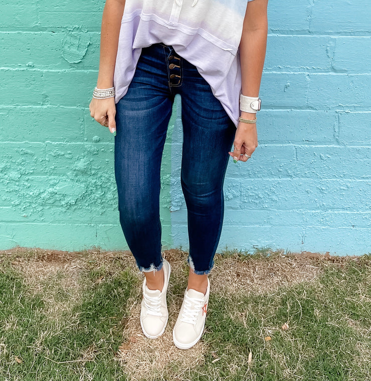 Molly Ann's Dark Wash Button Fly Jeans