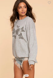 Butterfly Wings Sweatshirt - Gray