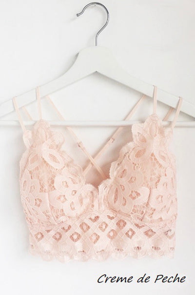 Feeling Free Bralette - Peach