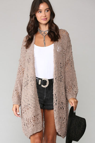 Give Me The Goods Cardigan - Taupe