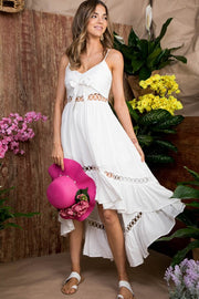 White High Low Maxi Dress - Stella Clothing Boutique