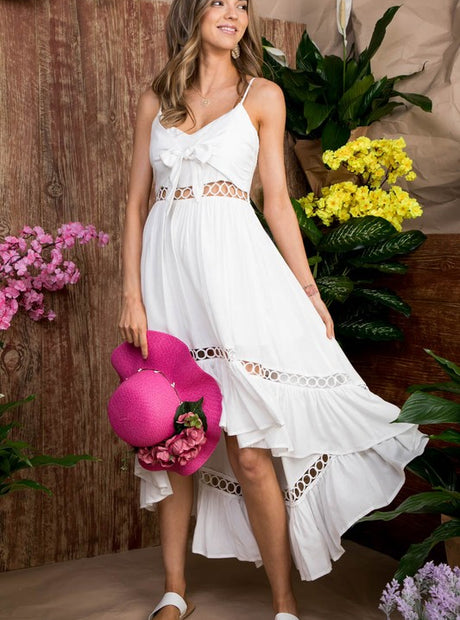 White High Low Maxi Dress - Pre Order