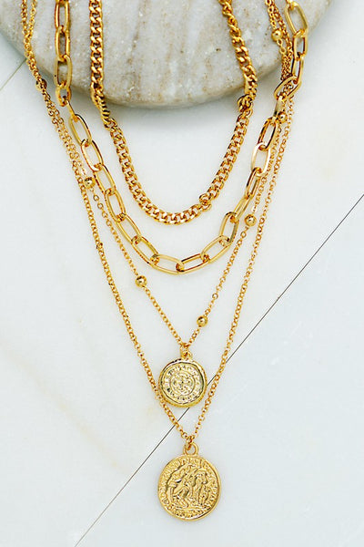 Two Drops To Happiness Necklace - Gold