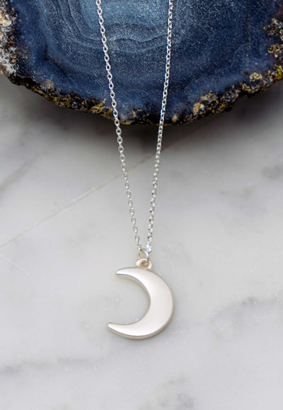 Pretty Moon Necklace - Silver