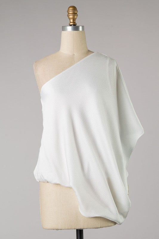Shimmer Me In Class Top - White