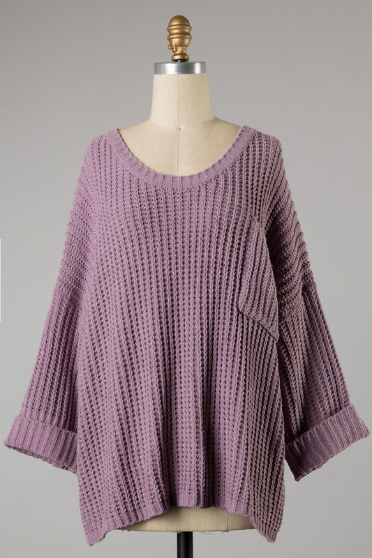 Just Relax Sweater - Mauve