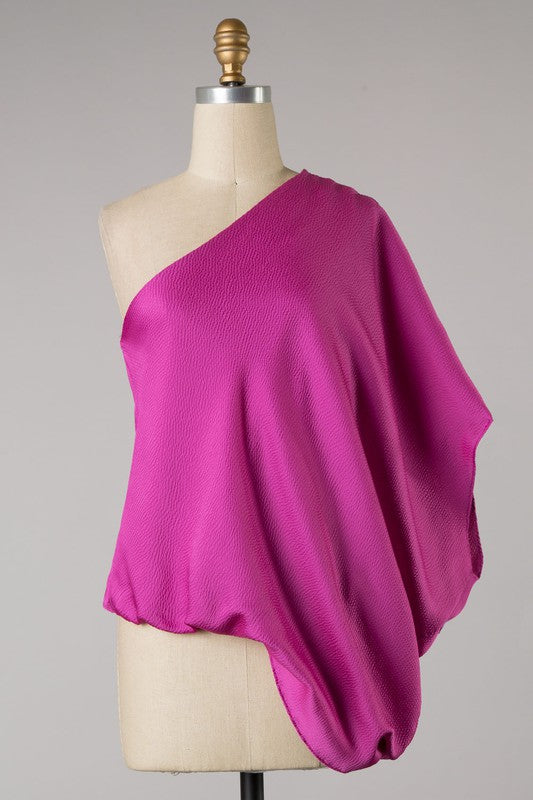 Shimmer Me In Class Top - Pink