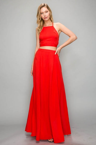 Classy Dress Set - Red - Stella Clothing Boutique