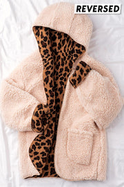 Tis The Season Comfy Hoodie - Animal Print