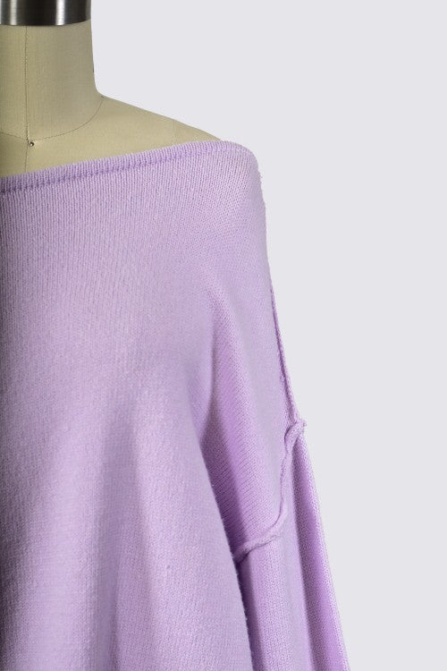 Lounging Around Sweater - Purple