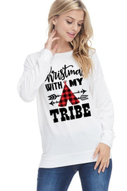 Christmas With My Tribe Top - Stella Clothing Boutique
