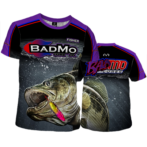 2017 BADMO LURE CO.  SHORT -SLEEVE SHIRT