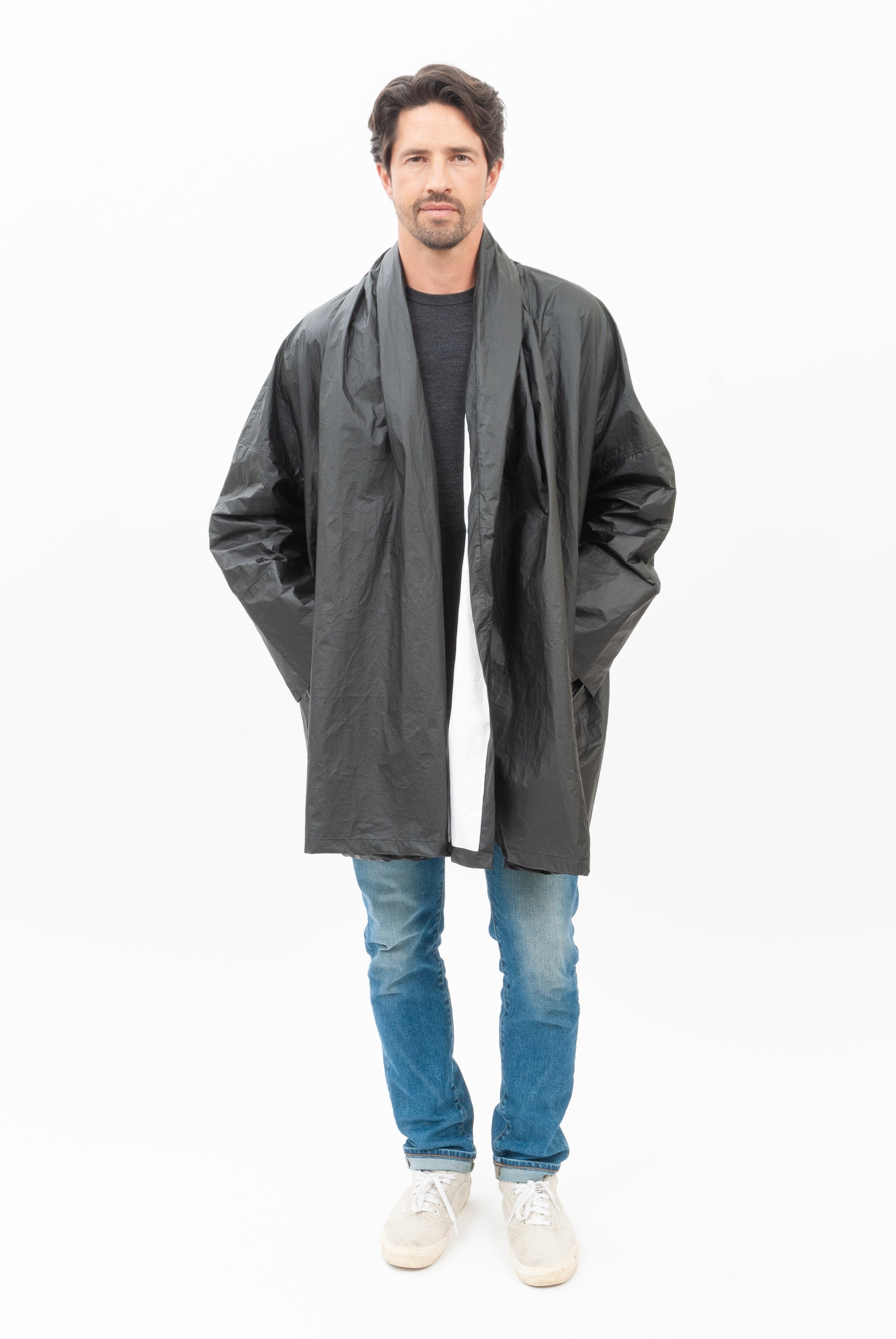 Black Hi-Tech Flip Coat