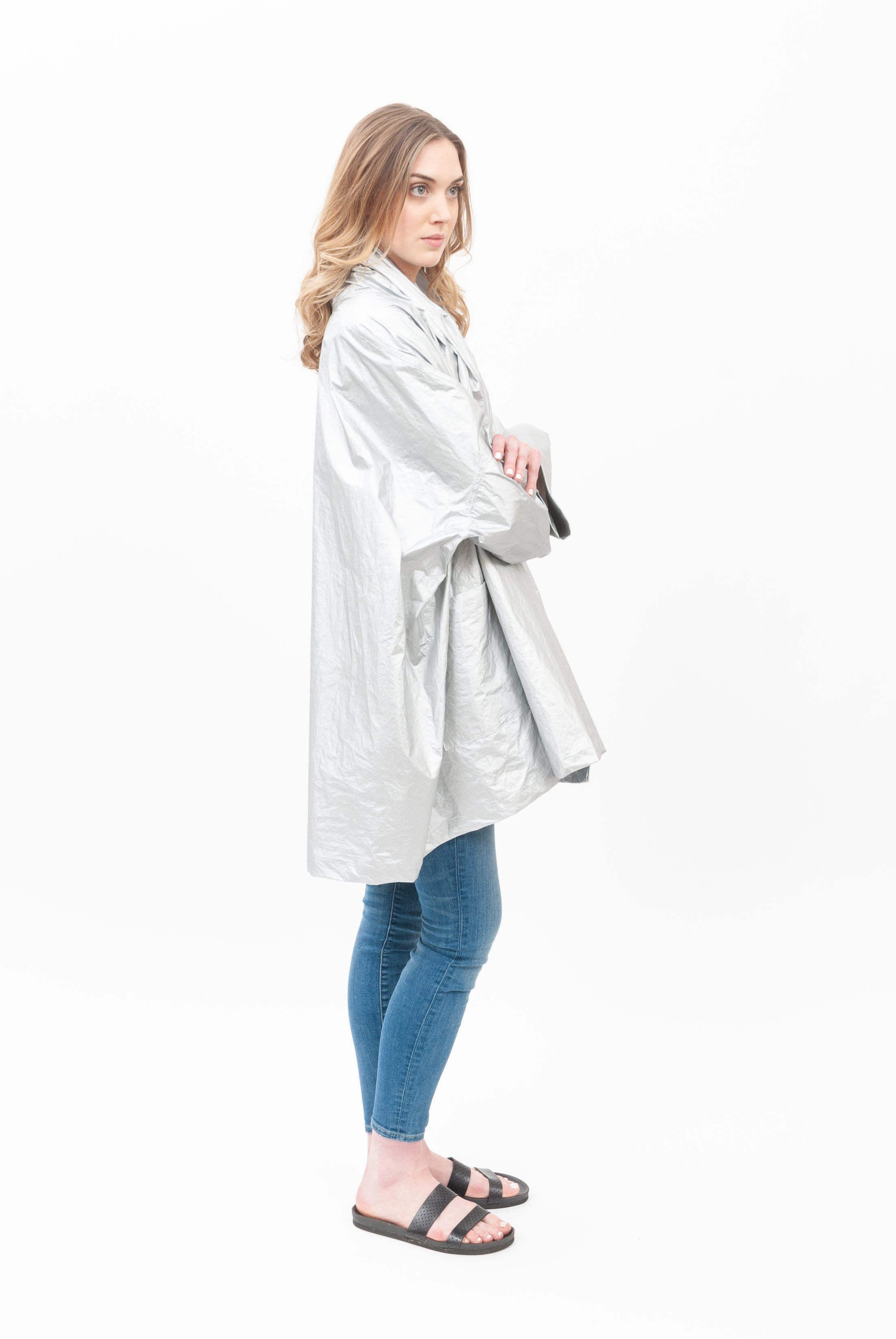 Silver Hi-Tech Flip Coat