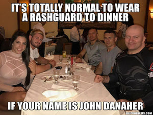 John Danaher explains why he always wears rashguards