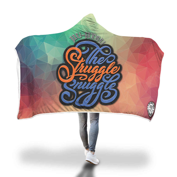 The Struggle Snuggle - Hooded Sherpa Blanket - BJJ Problems