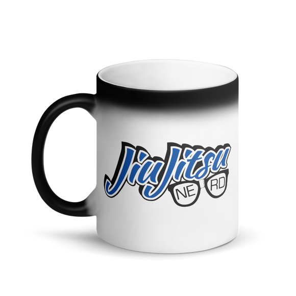 Jiu Jitsu Nerd - Matte Black Magic Mug