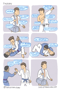 "Skeleton Claw - ""BJJ Therapy"" Poster - BJJ Problems"