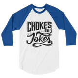 Chokes And Jokes - Men's 3/4 Sleeve Jersey - BJJ Problems