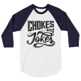 Chokes And Jokes - Women's 3/4 Sleeve Jersey - BJJ Problems