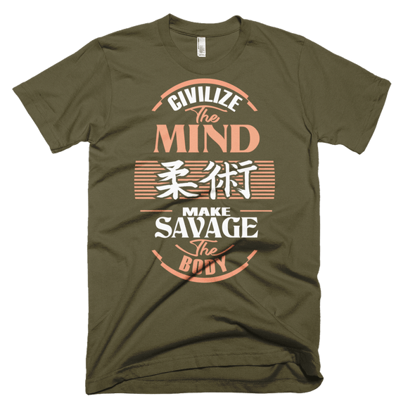 Civilize The Mind - Make Savage The Body - Men's T-Shirt - BJJ Problems