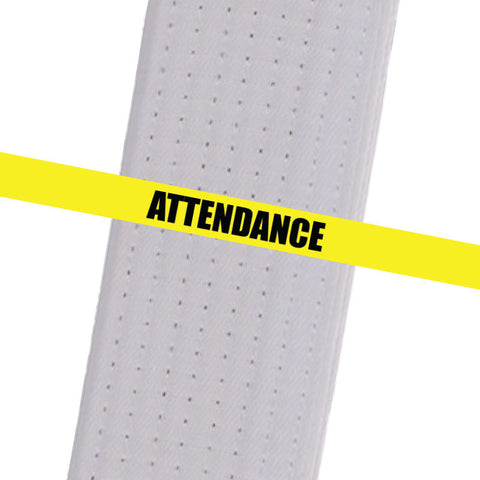 Superstar Karate - Yellow Attendance Custom Belt Stripes - BeltStripes.com : The #1 Source for Martial Arts Belt Tape
