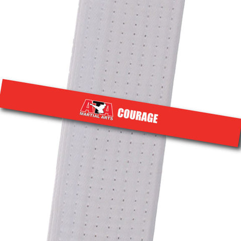 Chesterfield ATA - Courage Achievement Stripes - BeltStripes.com : The #1 Source for Martial Arts Belt Tape
