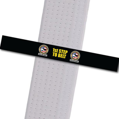AUUSOMA - 1st Step to Belt: Black Achievement Stripes - BeltStripes.com : The #1 Source for Martial Arts Belt Tape