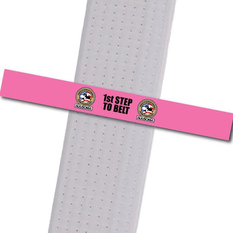 AUUSOMA - 1st Step to Belt: Pink Achievement Stripes - BeltStripes.com : The #1 Source for Martial Arts Belt Tape
