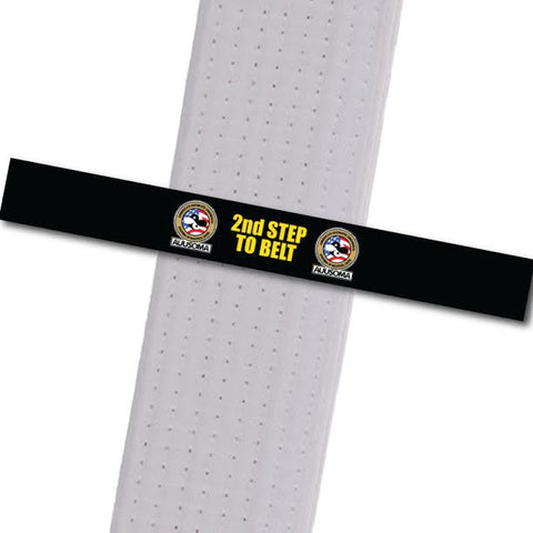 AUUSOMA - 2nd Step to Belt: Black Achievement Stripes - BeltStripes.com : The #1 Source for Martial Arts Belt Tape