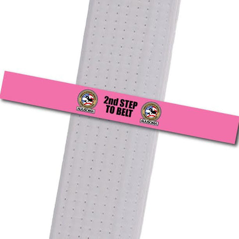 AUUSOMA - 2nd Step to Belt: Pink Achievement Stripes - BeltStripes.com : The #1 Source for Martial Arts Belt Tape