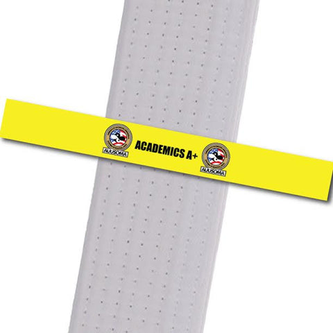 AUUSOMA - Academics A+ Achievement Stripes - BeltStripes.com : The #1 Source for Martial Arts Belt Tape